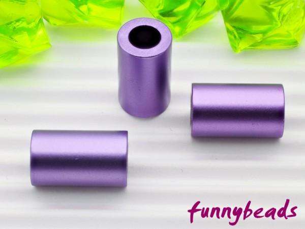 Aluminiumröhrchen 6 x 10 mm violett