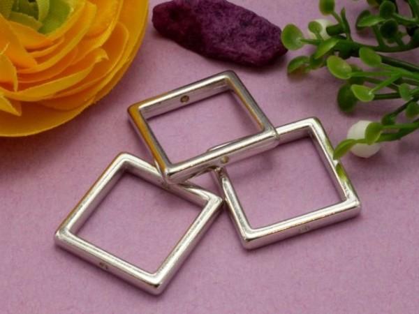 3 Metall Quadrate 14 mm platin