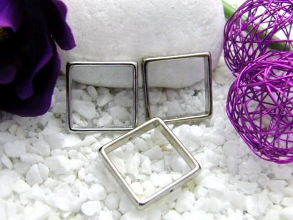 3 Metall Quadrate 20 mm platin