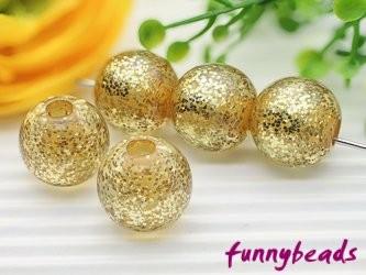 Feinglitzer Perle gold 12 mm