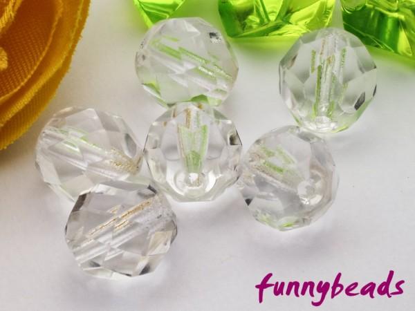 20 Glasschliffperlen crystal 8 mm