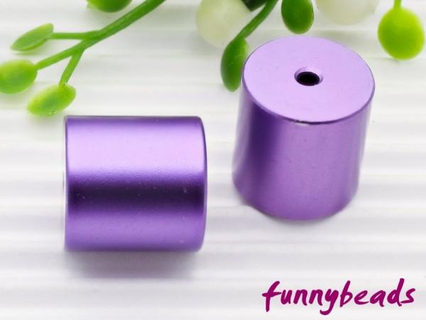 Aluminiumwalze 10 x 10 mm violett
