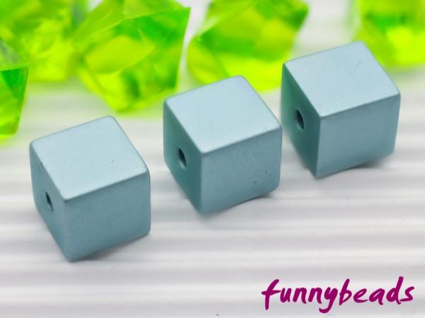 Aluminiumwürfel hellblau 8 mm