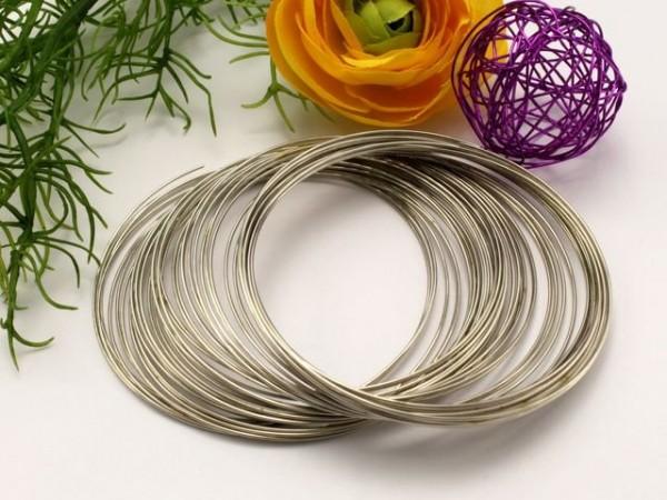 Memory Wire für Armbänder platinfarben 5,5 cm (20 Windungen)