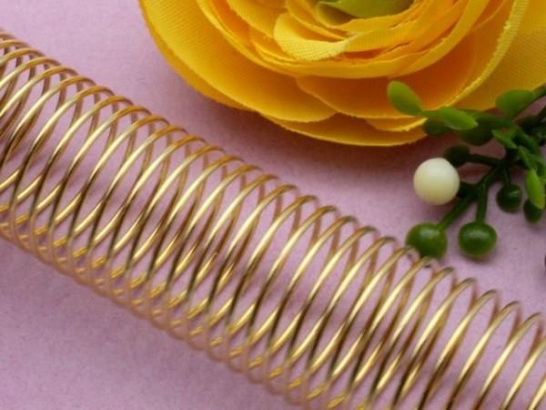 Memory Wire für Fingerringe goldfarben