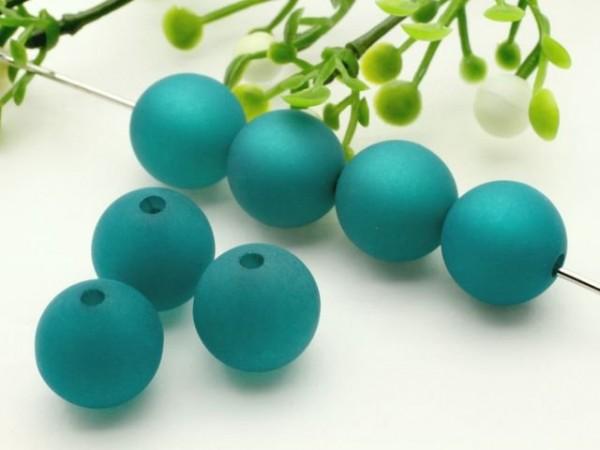 Polarisperle 6 mm rund emerald