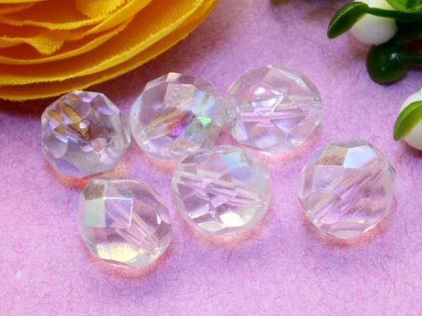 20 Glasschliffperlen crystal AB 8 mm
