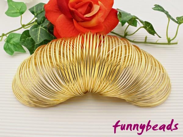 Memory Wire für Armbänder goldfarben 5,5 cm (20 Windungen)