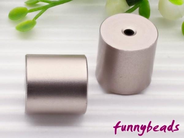 Aluminiumwalze 10 x 10 mm perlgrau