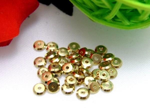 40 Spacer Metall Scheiben goldfarben 4 mm