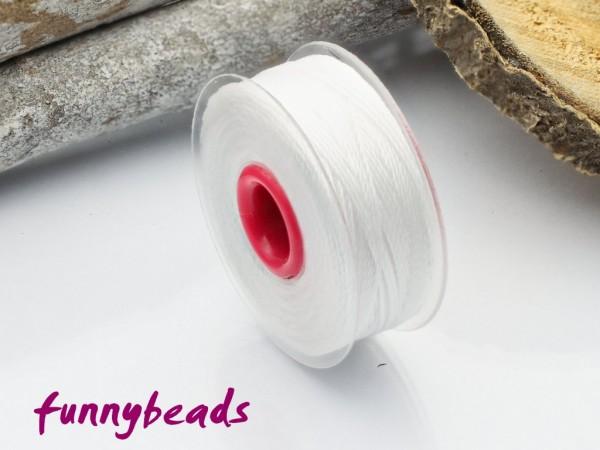 Perlseide 0,2 mm 37 m weiß
