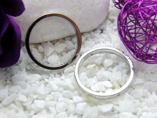3 Metall Ringe 25 mm versilbert