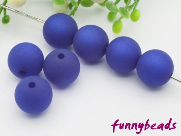Polarisperle 6 mm rund königsblau