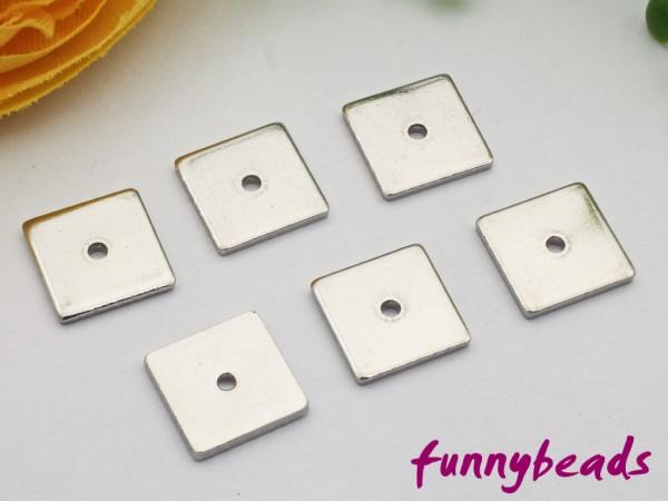 1 Spacer Quadrat Metall flach Edelstahl 304 8 x 8 mm