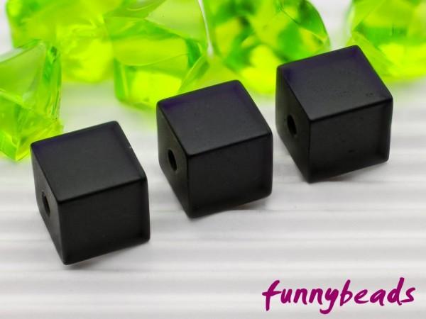 Aluminiumwürfel schwarz 8 mm