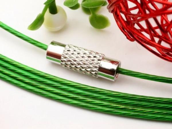 1 Halsreifen Edelstahl grün 1 mm