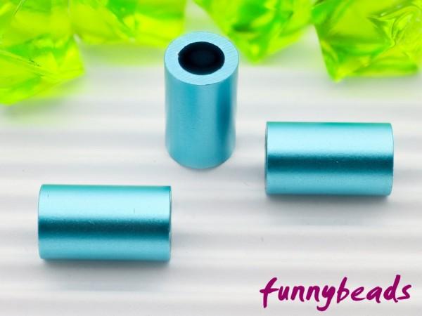 Aluminiumröhrchen 6 x 10 mm türkisblau