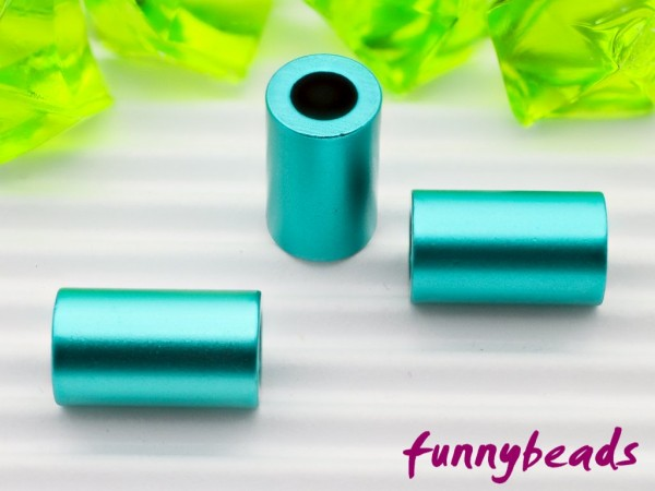 Aluminiumröhrchen 6 x 10 mm türkisgrün