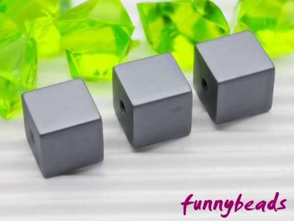 Aluminiumwürfel dunkelgrau 8 mm