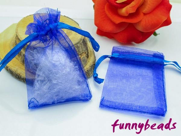 Organzabeutel blau 5 x 7 cm