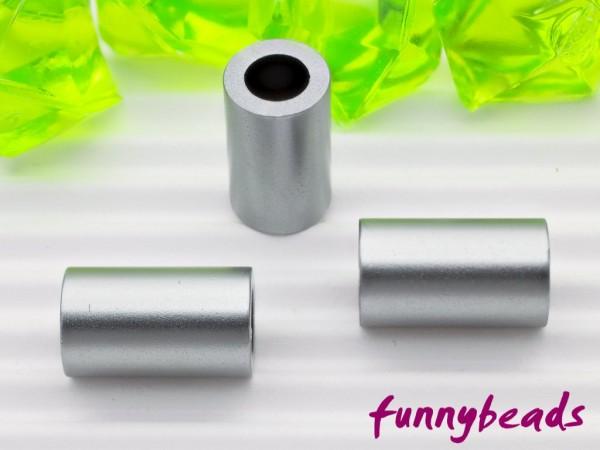 Aluminiumröhrchen 6 x 10 mm dunkelgrau