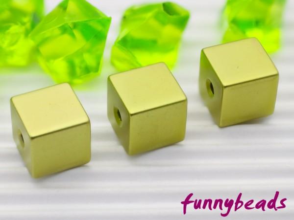 Aluminiumwürfel citrusgrün 8 mm