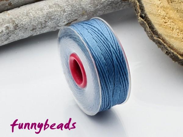 Perlseide 0,2 mm 37 m jeansblau