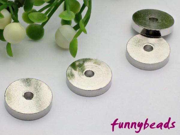 1 Scheibe Metall platinfarben 10 x 2 mm