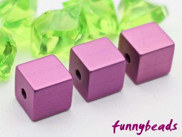 Aluminiumwürfel violett 8 mm