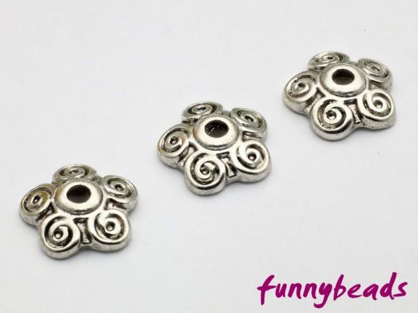 Perlenkappe antiksilber 10 mm