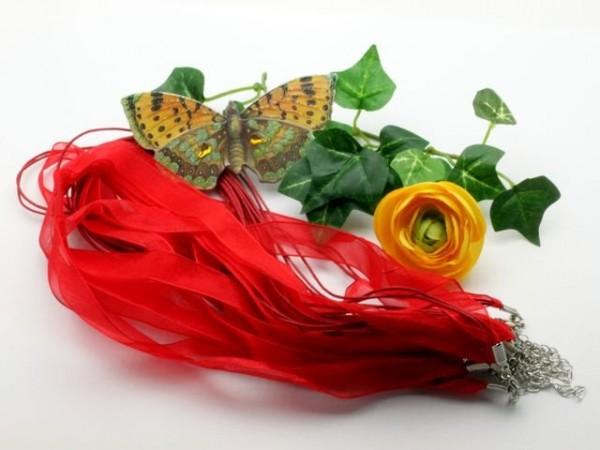 1 Organzahalsband rot