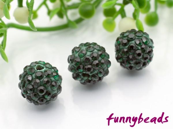 Shamballa Perle 10 mm emerald