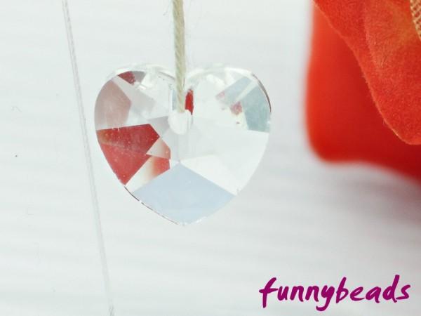 Glasanhänger Herz Crystal 14 mm