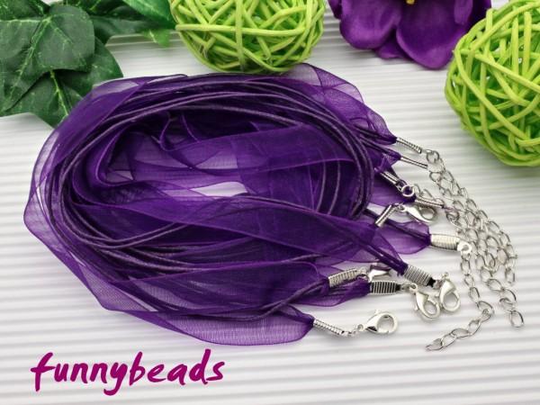 1 Organzahalsband lila
