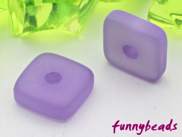Polaris Spacer Quadrat Scheibe eckig 6 mm violett