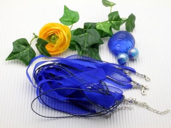 1 Organzahalsband dunkelblau