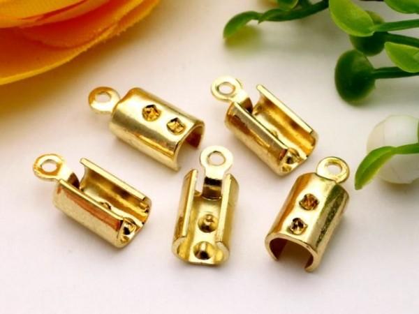 4 Endklemmen goldfarben für 2,5 mm Bänder