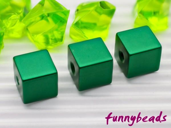 Aluminiumwürfel grün 8 mm