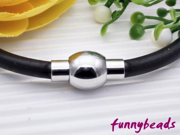 Magnetverschluss Edelstahl für Bänder bis 4 mm