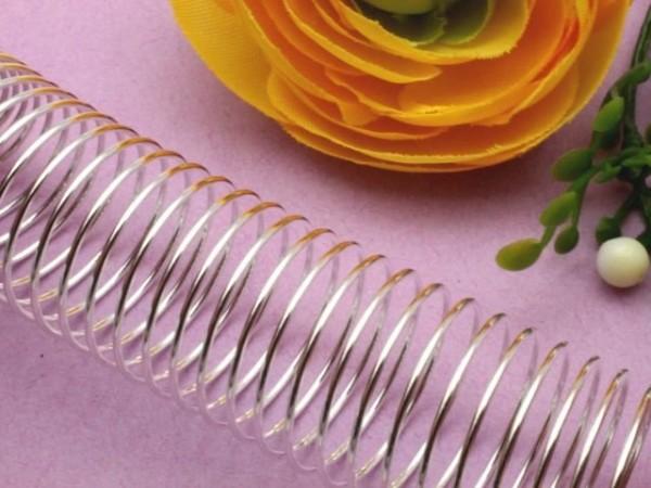 Memory Wire für Fingerringe platinfarben