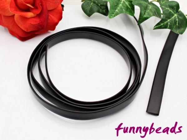 synth. Kautschukband flach Meterware schwarz 10 mm