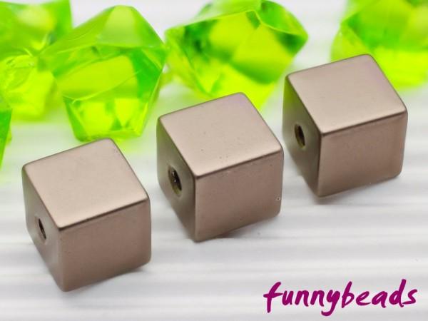Aluminiumwürfel perlgrau 8 mm