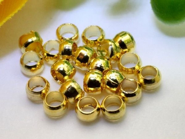 2,5g Quetschperlen goldfarben 2 mm