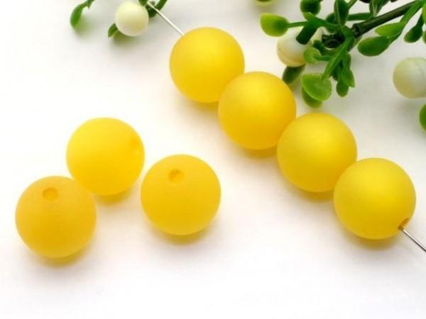 Polarisperle 14 mm rund gelb