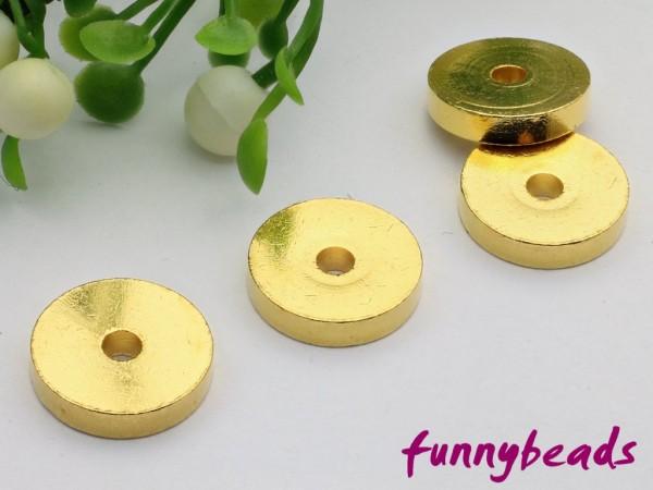 1 Scheibe Metall goldfarben 10 x 2 mm