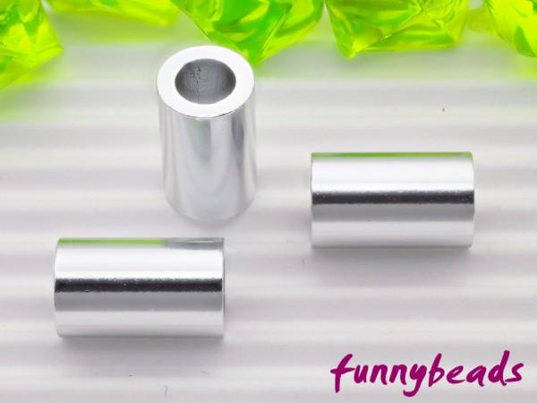 Aluminiumröhrchen 6 x 10 mm silberglanz