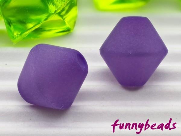 Polaris Doppelkegel Bicone 8 mm violett