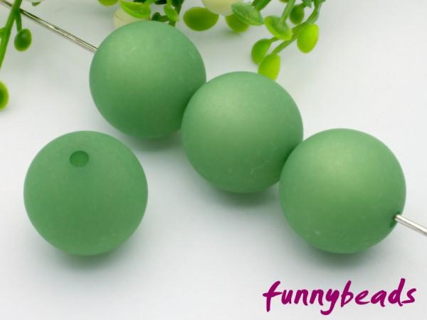 Polarisperle 16 mm rund grasgrün