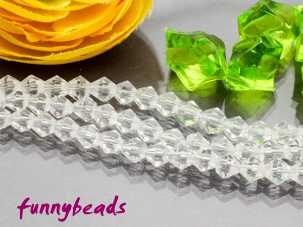 1 Strang Glasschliffperlen Bicone 4 mm kristall
