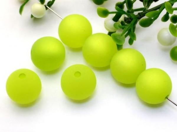 Polarisperle 6 mm rund hellgrün